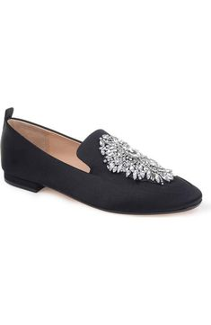b5080ee8061e1 Badgley Mischka Salma Crystal Embellished Loafer (Women)