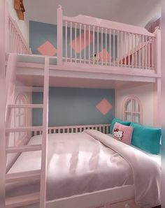 Cute Bedroom Ideas For Twin Girls Understairs Storage bedroom Cute girls Ideas Twin Design Room, Small Room Design, Room Design Bedroom, Small Room Bedroom, Girls Bedroom, Twin Girl Bedrooms, Attic Bedrooms, Basement Bedrooms, Cute Bedroom Ideas