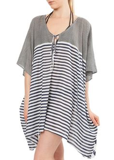 Cotton Polka & Stripes Kaftan Regular