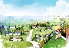 """Kim Ji Hyuck (Hanuol), """"Anne of Green Gables"""" illustration"""