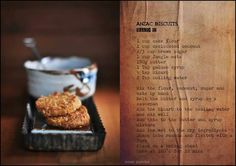 Anzac Biscuits Recipe from Cleopatra Mountain Farmhouse.  Midlands Meander, KZN, South Africa www.midlandsmeander.co.za Anzac Biscuits, Artisan Food, Golden Syrup, Country Cooking, Cake Flour, Biscuit Recipe, Cleopatra, Brown Sugar, South Africa