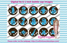 1' Bottle caps (4x6) Digital numbers 1-9 blue K699  PLEASE VISIT http://craftinheavenboutique.com/AND USE COUPON CODE thankyou25 FOR 25% OFF YOUR FIRST ORDER OVER $10! #bottlecap #BCI #shrinkydinkimages #bowcenters #hairbows #bowmaking #ironon #printables #printyourself #digitaltransfer #doityourself #transfer #ribbongraphics #ribbon #shirtprint #tshirt #digitalart #diy #digital #graphicdesign please purchase via link http://craftinheavenboutique.com