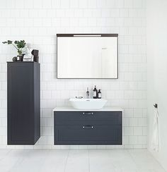 Stil - A new collection of classic, timeless furniture that can be built as you choose. Bathroom Vanity Cabinets, Bathroom Furniture, Bathroom Interior, Bathroom Inspo, Bathroom Inspiration, Bathroom Ideas, Tiny Bathrooms, Small Bathroom, Guest Toilet