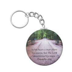 Keychain Zipper Pouch Violet Yellow Brown Green Cross Floral Scripture Verses Lettering Print