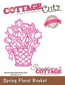 CottageCutz Spring Floral  Basket (Elites)