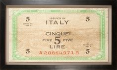 Banknotes Collection: Italy