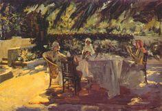 Sir John Lavery (Irish, 1856 - 1941) 'Under the Palm Tree'