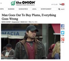 Bucky & his plums