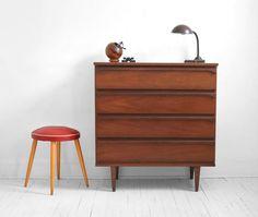 Vintage Wood Dresser - Mid Century, Modern, Cabinet, Retro, Eames, Storage. $495.00, via Etsy.