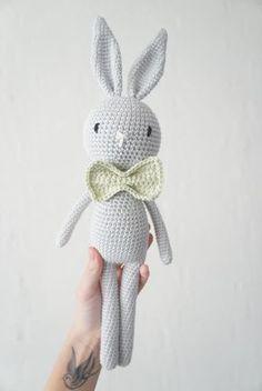 Gratis hækleopskrift: kanin