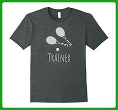 Mens Tennis Trainer Dual Racquet Tee Medium Dark Heather - Sports shirts (*Amazon Partner-Link)