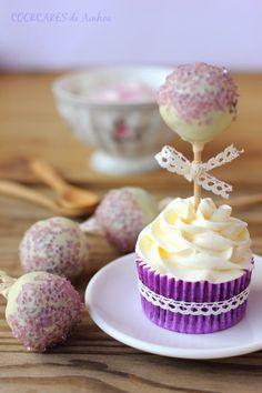 Cupcakes de chocolate y agua de azahar