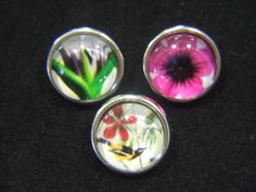 Noosa Chunk Charms 12mm Flower & Bird for Noosa Style Rings, Bracelets, Pendants and Jewellery