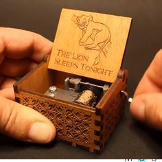 This handcrafted music box makes a great gift for any music lover 😍🎶 Antique Music Box, Vintage Music Boxes, Music Box Ballerina, The Lion Sleeps Tonight, Wooden Music Box, Cool Gadgets To Buy, Any Music, Gifts For Brother, Cool Stuff