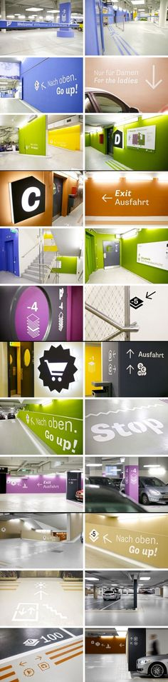 - architectural, interior, landscape and industrial design all make up environmental graphic design Park Signage, Directional Signage, Wayfinding Signs, Signage Display, Signage Design, Environmental Graphic Design, Environmental Graphics, Online To Offline, Inspiration Wand