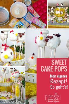 Niedliche Cake Pops. Nicht nur zu Ostern sind die putzigen Kuchen-Lollis ein tolles Mitbringsel und eine süße Leckerei! Rezept und viele Tipps mit einem Klick! #cakepops #backen #osterbäckerei #ostern #easter #baking #osterlamm #backtipps #kuchen #cake Cake Pops Form, Foodblogger, Cute Cakes, Cakepops, Lifestyle Blog, German, Sweets, Interior, Desserts