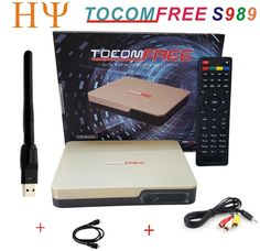 86.00$  Watch here - http://alian9.worldwells.pw/go.php?t=32752858869 - TOCOMFREE S989 Satellite Receiver+1PC WiFi DVB-S2 Twin Tuner IKS SKS IPTV ACM H.265 For South America better tocomfree s929 plus