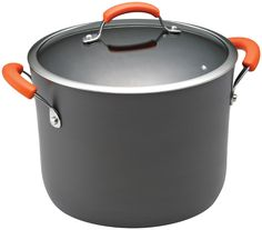 Rachael Ray Hard Anodized II Nonstick Dishwasher Safe 10-Quart Covered Stockpot, Orange -- Check out the image by visiting the link.