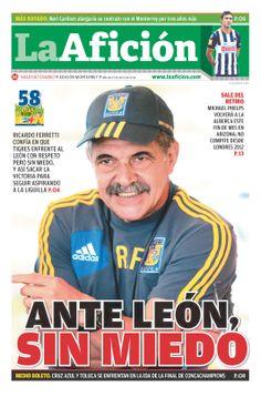 Portada La Afición Ed. Monterrey 15/04/14   ANTE LEÓN SIN MIEDO