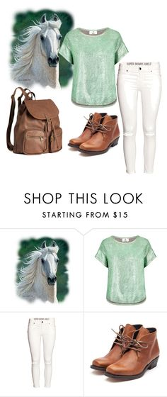"""""""i'll the horse for the prince anyday"""" by abriellekitty ❤ liked on Polyvore featuring moda, Essentiel, H&M e Rupert Sanderson"""