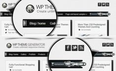A clean and professional grid layout based wordpress theme with  a really original menu design !