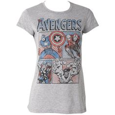 The Avengers ($9.99) ❤ liked on Polyvore featuring tops, t-shirts, shirts, tees, avengers, t shirts and shirts & tops