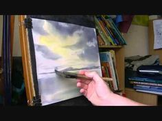 Learn Watercolor Painting - How to Paint Winter Snow Scene Part 1