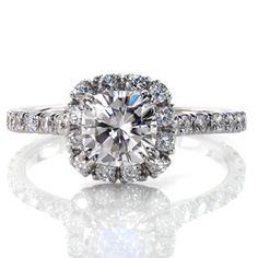 Amore - Knox Jewelers - Minneapolis Minnesota - Micro Pavé Engagement Rings - French Cut Pave, Fishtail Pave, Halo, Claw Prongs, Cushion