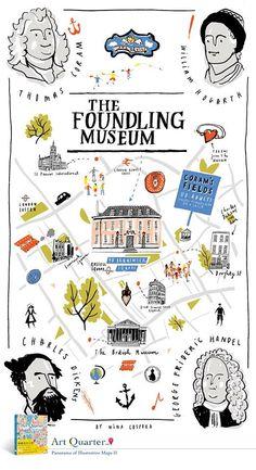 どこかのミュージアムの地図