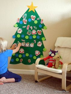 Felt Christmas Tree for Kids #clever #holiday #kids