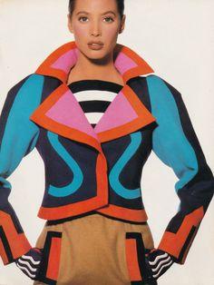Christy Turlington by Irving Penn - Us Vogue April 1988
