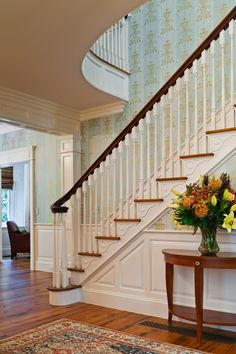 Staircase and upper balcony