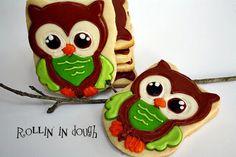 Owl Cookies, Owl Cookie Favors - 1 Dozen. $48.00, via Etsy.
