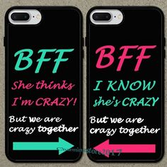 Details about Fashion Crazy Sister Best Friend Phone Case Cover For iPhone X XS 7 8 BFF Crazy Sister Bester Freund Telefon … Bff Iphone Cases, Bff Cases, Funny Phone Cases, Iphone 5s, Ipod Cases, Best Friend Cases, Friends Phone Case, Best Friends, Best Friend Stuff