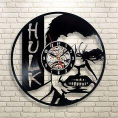 Hulk Vinyl Record Wall Clock