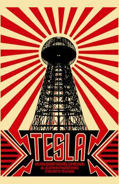 Represent your love for Tesla, SpaceX & The Boring Co. Nikola Tesla, Art Deco Posters, Vintage Posters, Tesla Logo, Einstein, Magic Art, Grafik Design, Dieselpunk, Vintage Advertisements