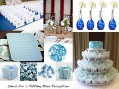 A tiffany blue wedding theme inspiration board