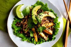 Red and Basmati or Jasmine Rice With Peanuts, Asian Dressing and Baked Tofu - NYTimes.com
