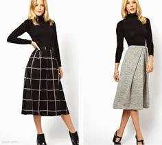 Midi Skirts 2013 | REVIEW: ASOS full midi skirts