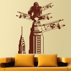 Vinilo decorativo King Kong en Nueva York
