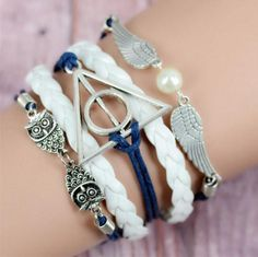 Vintage Multilayer Braided Owls Harry Potter Bracelets