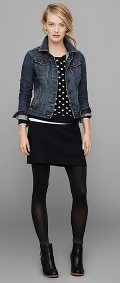 Welcome back the return of the mod mini. We're loving it with dots and a denim jacket.