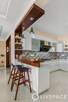 Kitchen Design Open, Kitchen Cupboard Designs, Kitchen Layout, Interior Design Kitchen, Kitchen Counter Design, Kitchen Small, Modern Kitchen Interiors, Modern Kitchen Cabinets, Kitchen Furniture