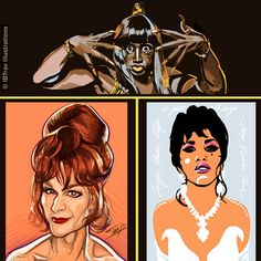 The Holy Trinity: Miss Noxeema Jackson, Miss Vida Boheme, and Miss Chi Chi Rodriguez. The ladies from To Wong Foo, Thanks For Everything! Julie Newmar.