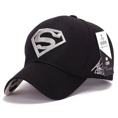 dea2e2edbf3 2015 cool amazing color casual gorras super-man superman hero 3D logo baseball  sport caps hats for men women unisex adjustable