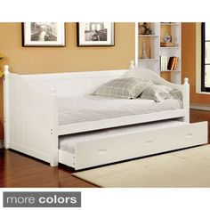 Furniture of America Cornelia Cottage Style Trundle Daybed | Overstock.com Shopping - The Best Deals on Beds