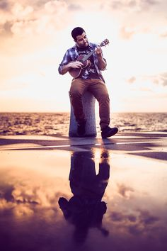Ukulele In The Sunset