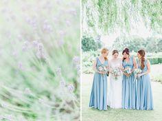Bridesmaids at Cain Manor in Surrey - Beautiful english garden wedding at the Bijou Wedding Venue