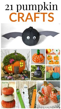 21 PUMPKIN CRAFTS --