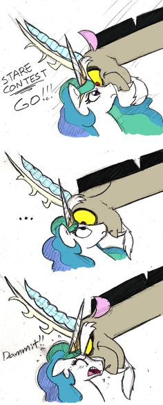 Celestia VS Discord by Mickeymonster on deviantART